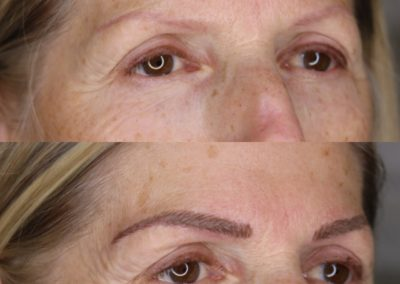 Permanent Makeup Hair Strokes Eyebrows Before & After
