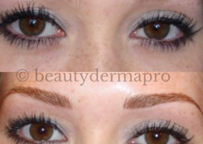 Microbladed Brows Before & After